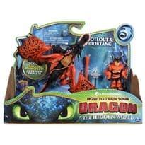 Подвижная игрушка Кривоклык и Сморкала (Hookfang and Snotlout Figure)  купить дешево