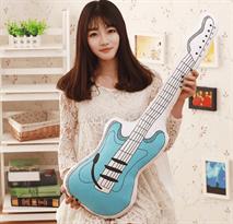 Плюшевая подушка голубая гитара купить