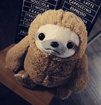 Плюшевая игрушка ленивец (коричневый)  купить