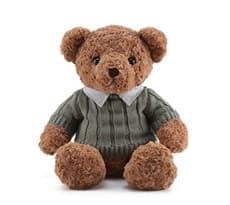 Плюшевый мишка в свитере (коричневый) купить