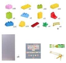 Лего-стена набор с горками (серый)