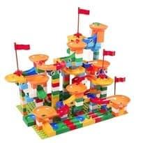 конструктор лего-стена разноцветные горки 400 деталей купить в москве