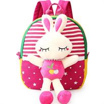 Купить рюкзак детский зайка розовый