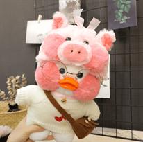 Купить мягкую игрушку цыпленок каваи в маске свинки