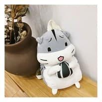 Рюкзак-игрушка Хомяк (Цвет Серый) с грелкой купить