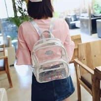 Прозрачный рюкзак (лямки перламутр) купить