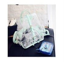 Прозрачный рюкзак (лямки мята)