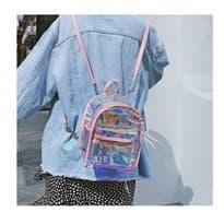 Прозрачный рюкзак (Цвет Розовый) купить