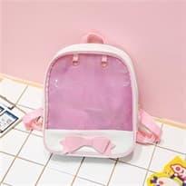 Прозрачный рюкзак с бантом (Цвет Розовый) купить