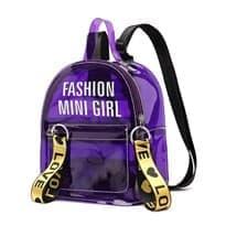 Прозрачный рюкзак (Цвет Фиолетовый)