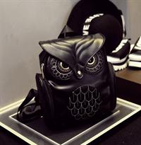 Заказать маленький черный рюкзак сова с доставкой