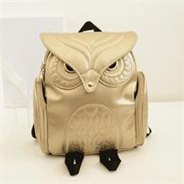 Заказать маленький золотистый рюкзак сова с доставкой