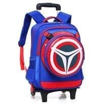 Школьный рюкзак с ручкой и на колёсах (Цвет Синий) купить