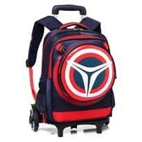 Школьный рюкзак с ручкой и на колёсах (Цвет Темно-синий) купить