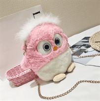 Купить детскую сумку Сова в Москве розовая