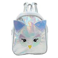 Заказать маленький серебристый рюкзак сова с доставкой