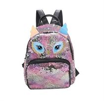 Рюкзак с пайетками сова (розовый с маленькими ушками)  купить