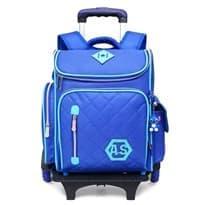 Школьный рюкзак на колесах с игрушкой Стич (Цвет Синий) купить
