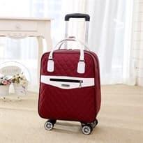 Стильный рюкзак на колесах (Цвет Бордовый) купить Москва