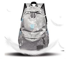 Школьный рюкзак  серого цвета космос купить в Москве