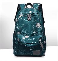 Школьный рюкзак зеленого цвета космос купить в Москве