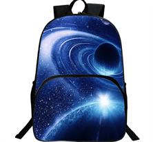 Купить школьный рюкзак космос планеты в Москве синий