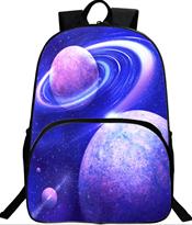 Купить школьный рюкзак космос планеты в Москве фиолетовый