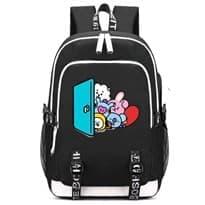 Рюкзак BT21 с изображением персонажей (Цвет Черный) купить