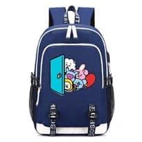 Рюкзак BT21 с изображением персонажей (Цвет Синий)