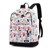 Рюкзак BT21 в стиле комиксов (Цвет Белый) купить