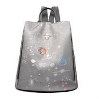Рюкзак женский космос звезды купить в Москве с доставкой серый