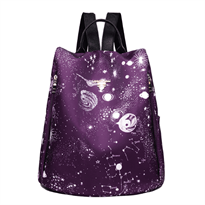 Рюкзак женский космос звезды купить в Москве с доставкой фиолетовый