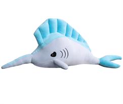 Купить мягкую игрушку рыба-меч в Москве голубая в Москве