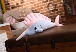 Купить мягкую игрушку рыба-меч в Москве розовая в Москве