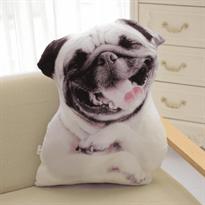 Купить мягкую подушку собака в Москве мопс