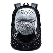 Рюкзак с шипами Собака (Цвет Серебро) купить