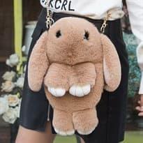 Сумка через плечо Кролик (Цвет Светло-коричневый) купить