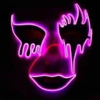Светящаяся маска для Хеллоуина (Цвет Фиолетовый) купить