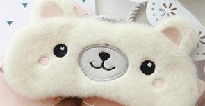 Ночная мягкая маска для сна Мишка купить