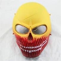 Защитная маска в форме Черепа (Цвет Желтый с красным) купить Москва