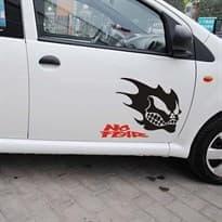 3D наклейка на машину Злой призрак (Цвет Черный) купить Москва