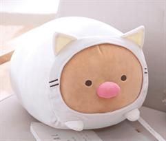 Мягкая игрушка Тонкацу из аниме Sumikko Gurashi в костюме кошки купить в Москве