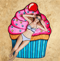 Купить пляжное полотенце Кекс в Москве