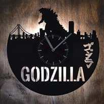 Настенные часы с подсветкой Годзилла (Цвет Черный) купить Москва