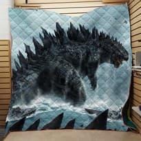 Стеганое одеяло Годзилла (Цвет светло-серый) купить Москва