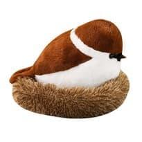 Мягкая игрушка Воробушек в гнезде 20см купить