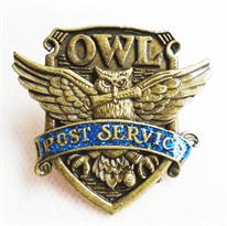 Значок герб Совиной службы доставки Owl post service (Гарри Поттер) купить в Москве