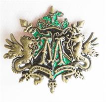 Значок герб семьи Малфой (Гарри Поттер) купить в Москве