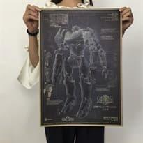 Плакат Багровый Тайфун из фильма Тихоокеанский рубеж купить Москва