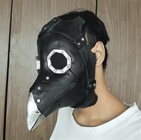 Маска Чумного Доктора (черная с серебром) купить в Москве